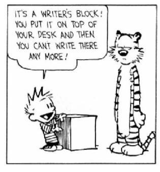 calvinhobbeswritersblock