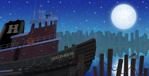 tugboat endpapers