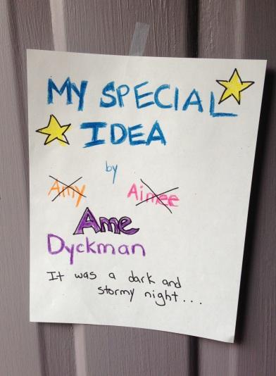 MY SPECIAL IDEA