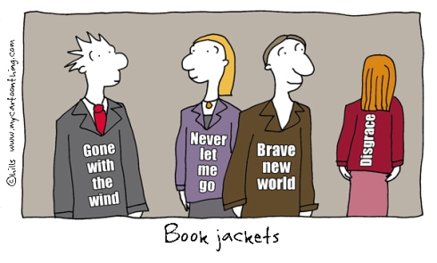 Book jackets cartoon