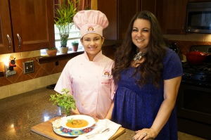 Kid Chef Eliana and Mom Dianne de Las Casas July 2014