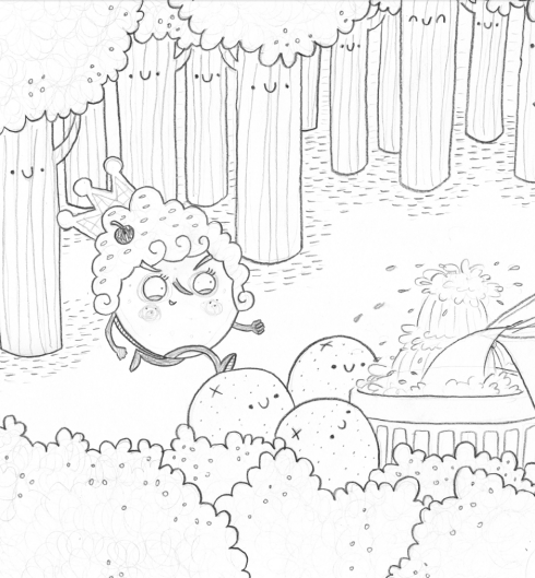 Lady Pancake in Broccoli Forest