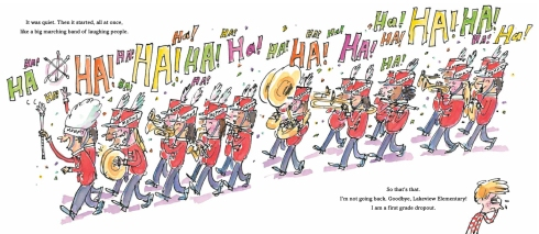 marching band illustration First Grade Dropout Audrey Vernick picture book