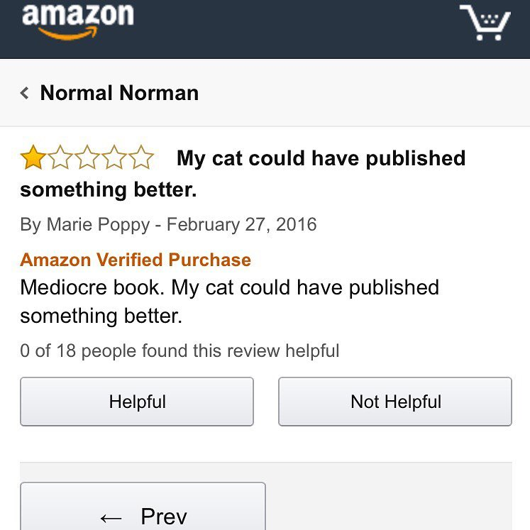 A book with bad reviews